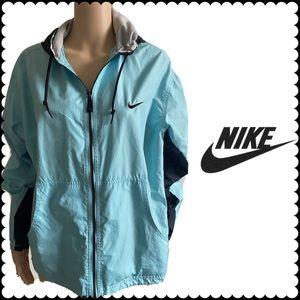 Nike Women's RARE Blue Windbreaker Jacket+ hoodie